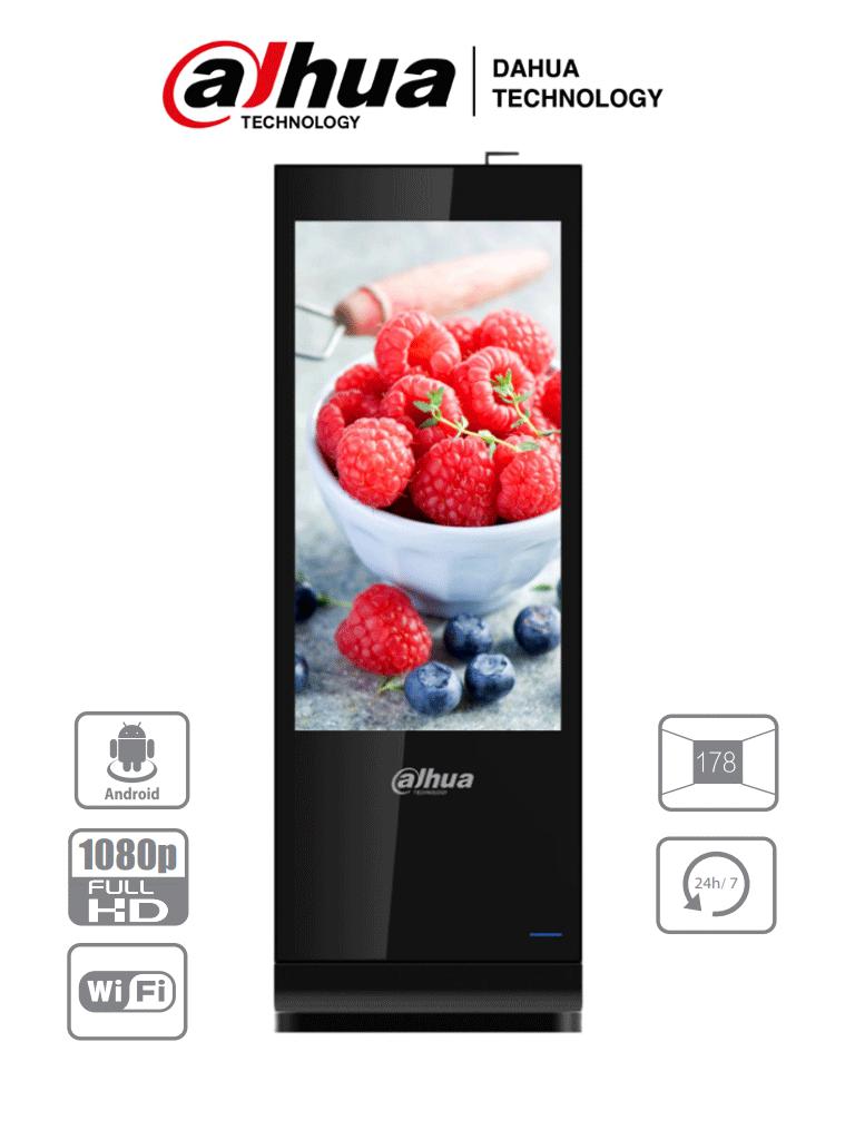 DAHUA LDV55-SAI200 - Totem para Señalización Digital/ Pantalla LCD De 55 Pulgadas / Uso interior/ SO Android / Carcasa Metalica / Soporta Administración de Video, Imagenes y Texto Remotamente por Red/ #Proyectos