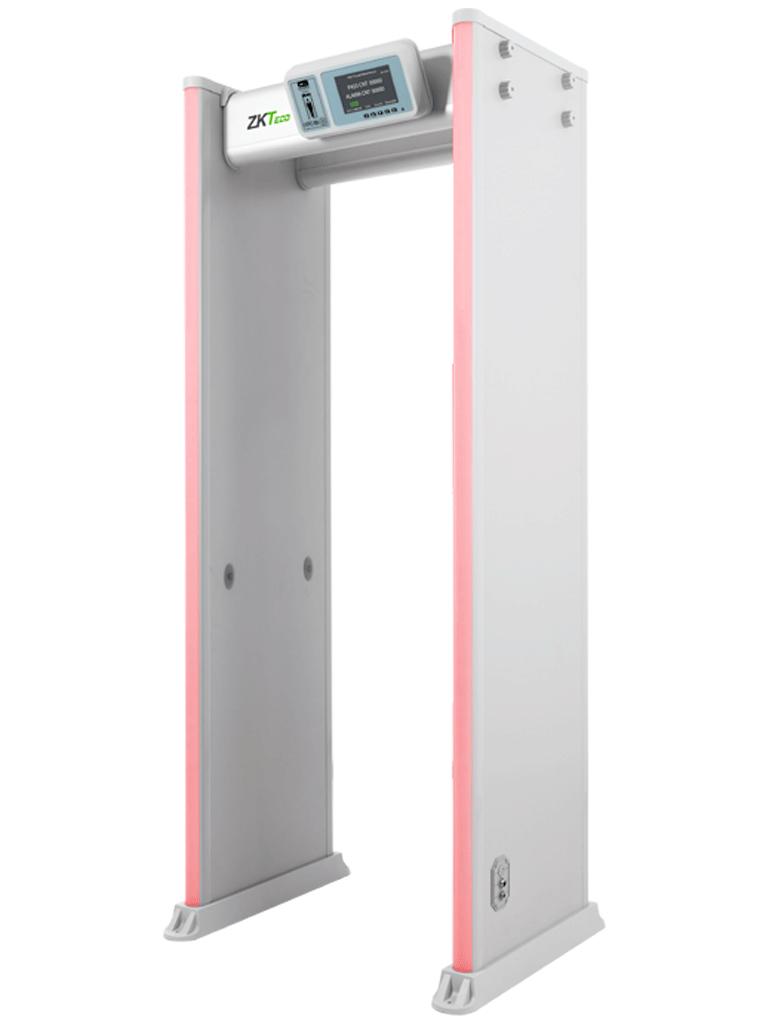 ZKTECO D4330 - Arco Detector de Metales / 33 Zonas de Detección / 300 Niveles de Sensibilidad / Pantalla HD 7  / Indicadores  LED en ambas vistas / Control Remoto