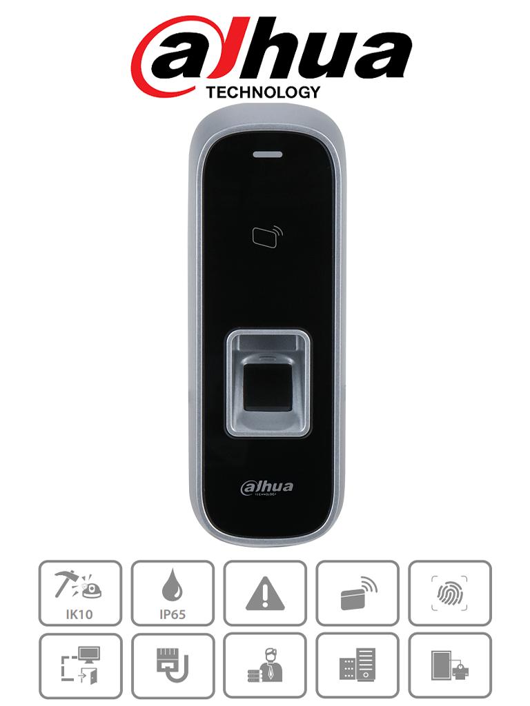 DAHUA ASI1202MD- Control de acceso TCP/IP standalone/ Para exterior / IK10 / IP65 / 30,000 usuarios / 150,000 Eventos / 3,000 huellas y tarjetas ID / Lectora esclava tarjetas/ #AccesoProfesional #NuevoDahua