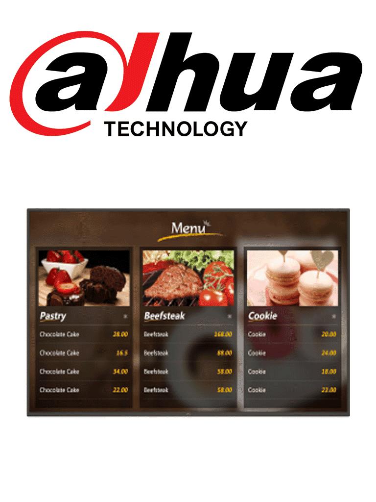 DAHUA LDH32TAI200 - Pantalla LCD digital SIGNAGE 32 pulgadas / ANDRO ID 5.1 / Uso interior / Carcasa de metal / Video / Imagenes / Texto administrable remotamente MPS