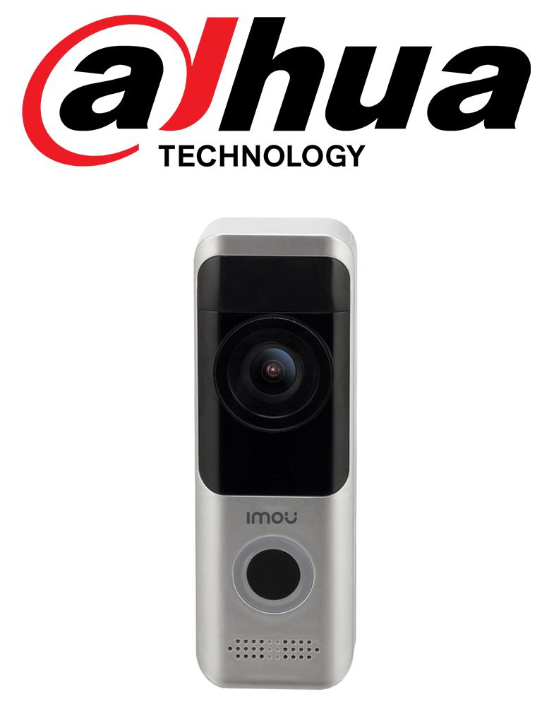 IMOU DOORBELL - Video Portero 100% Libre de Cables con Bateria Recargable/ 2 Megapixeles/ IR 5 Mts/  WiFi/ SD/ Audio/ IP65/ Compatible con Alexa y Asistente de Google