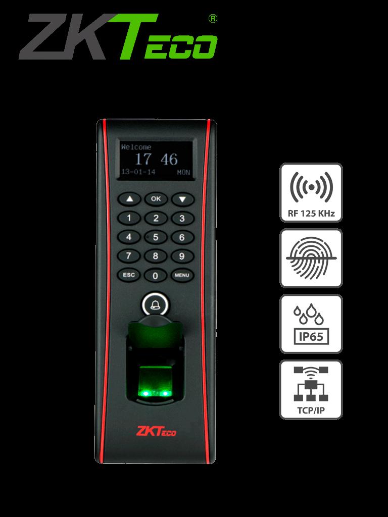 ZKTECO TF1700 - Control de Acceso Semi-Exterior de Huella, Tarjeta y Contraseña / Soporta 3000 Huellas / 10000 Tarjetas  RFID 125 khz / Almacena 30000 Registros / Conexión TCPIP / USB / Compatible con Software ZK Access 3.5