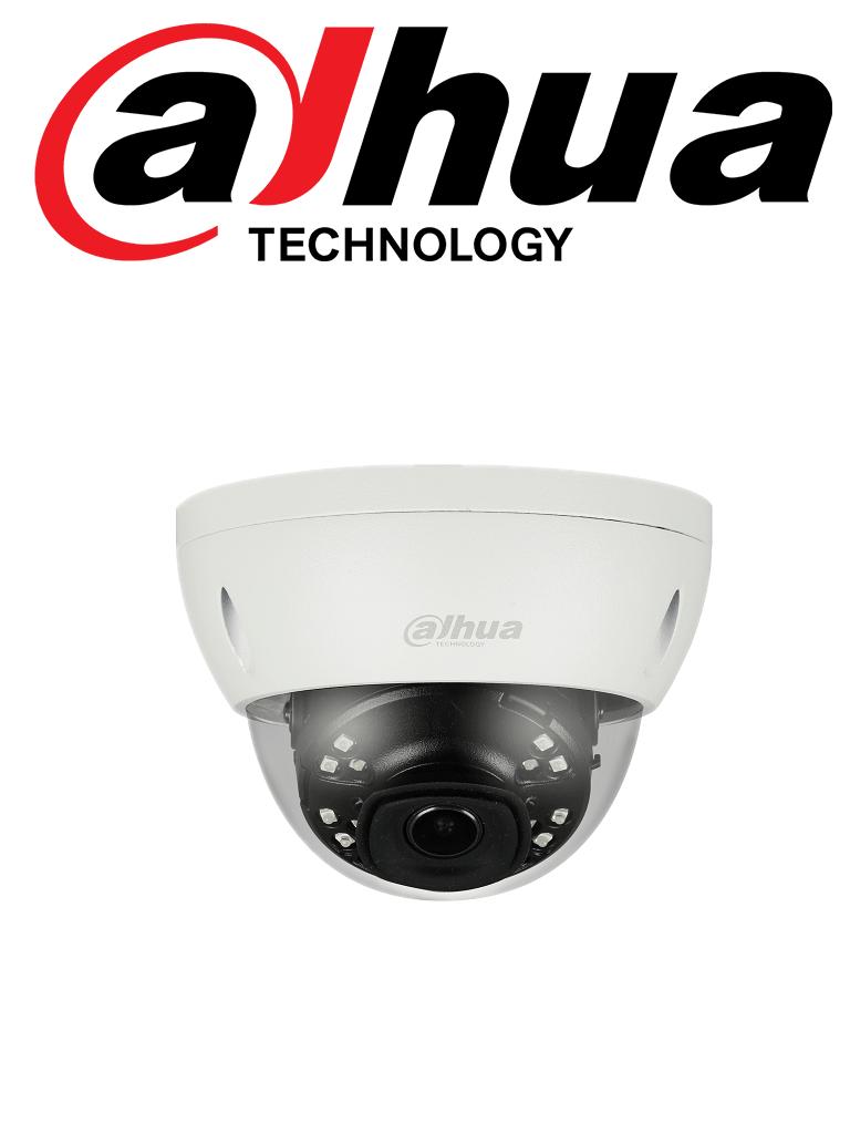 DAHUA IPCHDBW4631ESE - Camara IP domo 6 megapixeles / H265+ / WDR Real 120 dB / Lente 2.8 mm / IVS / Ir 30 Mts / IP67 / IK10 /  PoE / E PoE / Ranura MICRO SD