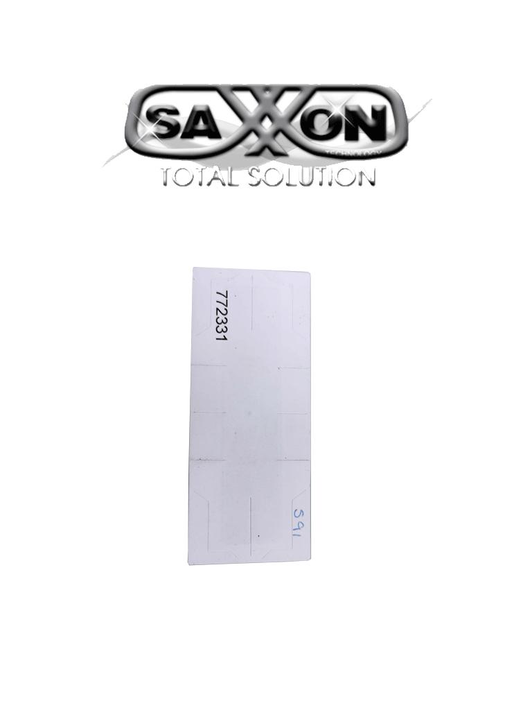 SAXXON THF02 - TAG De papel ADHERIBLE / Altas temperaturas / Compatible con AST151002 & AST151003