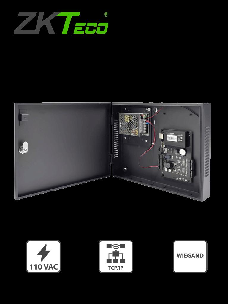 ZKTECO C3100B - Control de Acceso Profesional para 1 Puerta / Gabinete y Fuente / Sin Biometría / Fácil Administración con Software ZKAccess 3.5
