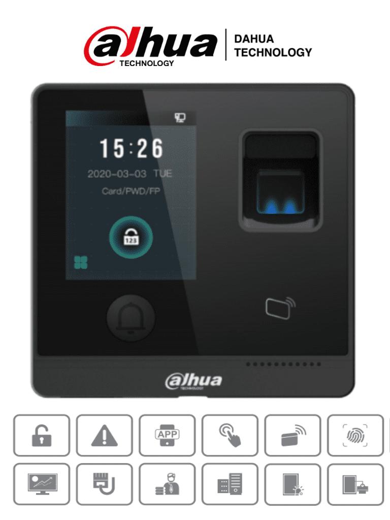 DAHUA ASI1212F-D - Control de Acceso STANDALONE/ Apertura remota P2P DMSS/ Uso interior / 3000 Huellas/ 30,000 Tarjetas ID/