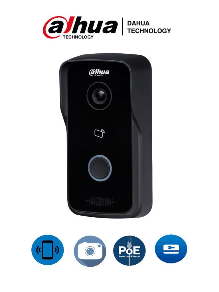 DAHUA VTO2111DPS2 - Frente de calle alámbrico / Independiente / Angulo visión 107 grados / Apertura de puerta remota, con tarjeta o monitor / Para exterior IP65 /  PoE 802.3 AF / 10 Monitores #VDPDahua