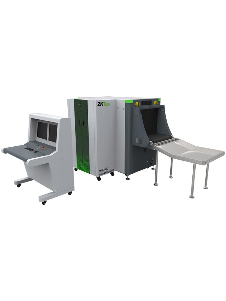 ZKTECO ZKX6550D - Sistema de Inspección por RAYOS-X de Doble Vista / Túnel de 65 x 50 CMS / Estación de Monitoreo en Banco