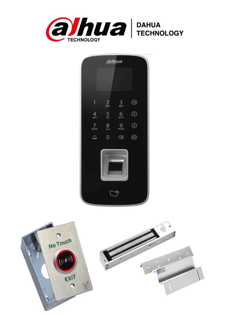 DAHUA ASI1212DDPAK- Control de Acceso TCP/IP STANDALONE/ Uso interior / 3,000 Huellas/ 150,000 Eventos/ 30,000 usuarios/ Tarjetas ID con botón de salida y cerradura magnética con cerradura magnética y botón de salida #ExpoTVC