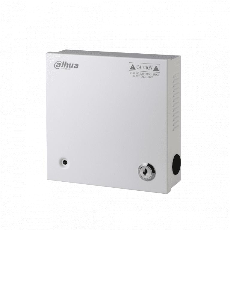 DAHUA PFM3405CH - Distribuidor de energia 5 canales / 12  VDC / 4 A MP / Fusibles intercambiables / Proteccion de sobrecarga / Color blanco