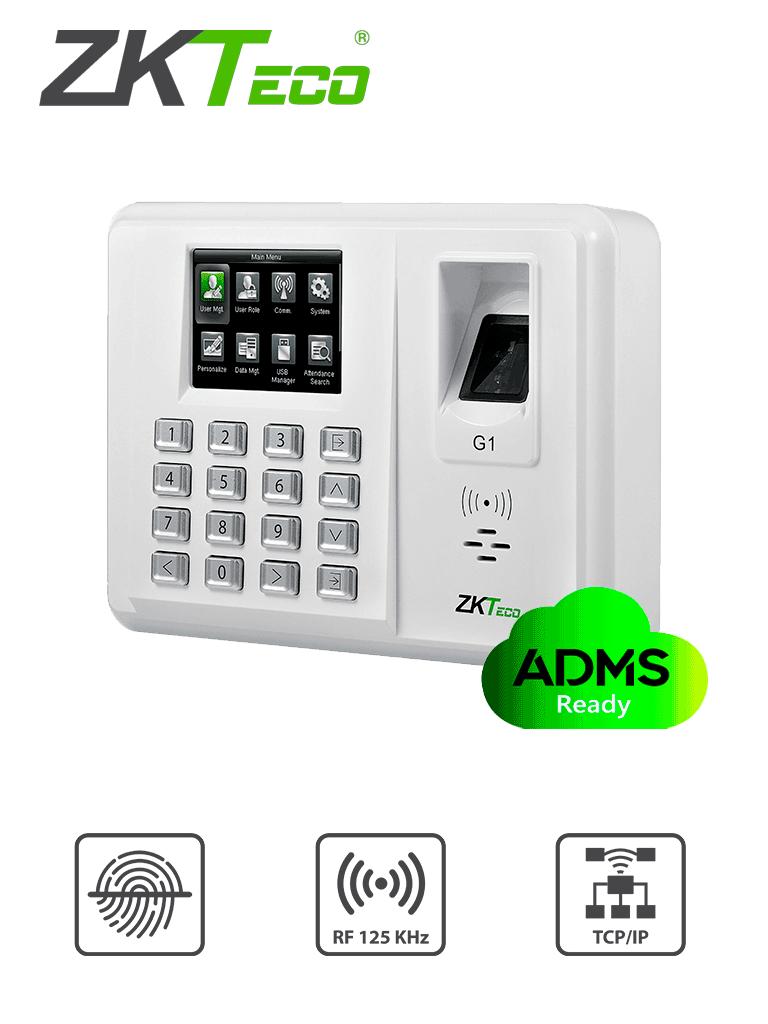 ZKTECO G1ID - Control de Asistencia / Green Label / 5000 Usuarios / 5000 Huellas con SILK ID / 5000 Password / 15000 Tarjetas  ID 125 Khz / 100 000 Registros / ADMS / TCPIP / #SinContacto / #TVCalGritodeMexico