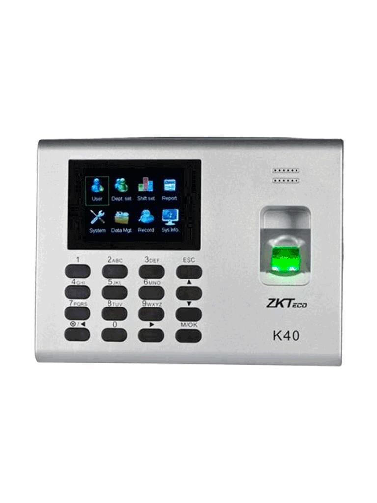 Control-Acceso-Asistencia-Simple-Huellas-USB-Hoja-Cálculo-Bateria-Respaldo-K40-ZK-TVC-Secundaria