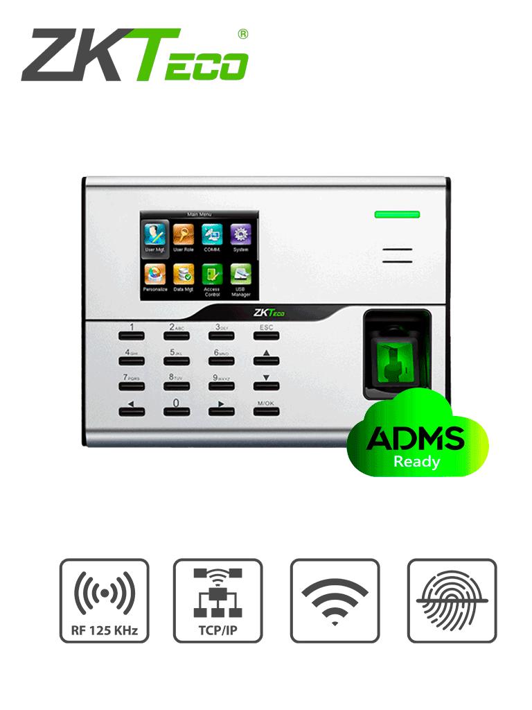 ZKTECO UA860ID - Control de Acceso y Asistencia Simple / 3000 Usuarios / 3000 Tarjetas ID / 50000 Registros / TCPIP / WiFi / ADMS / #SinContacto
