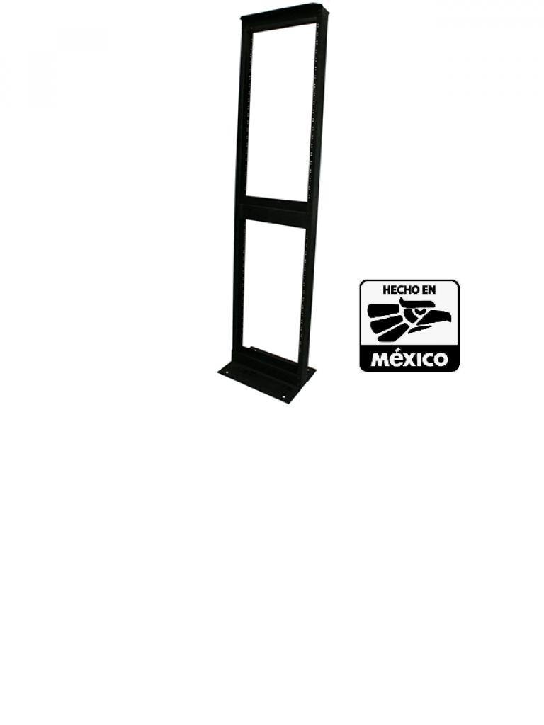LACES LAR4L - Rack liviano de aluminio / 24 UR / Perforacion roscada 12-24 / Soporta 300 Kg