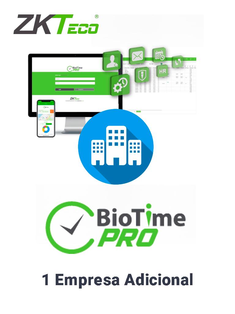 ZKTECO BIOTIMEPROADDME - Licencia vitalicia para agregar 1 empresa adicional en BioTimePro