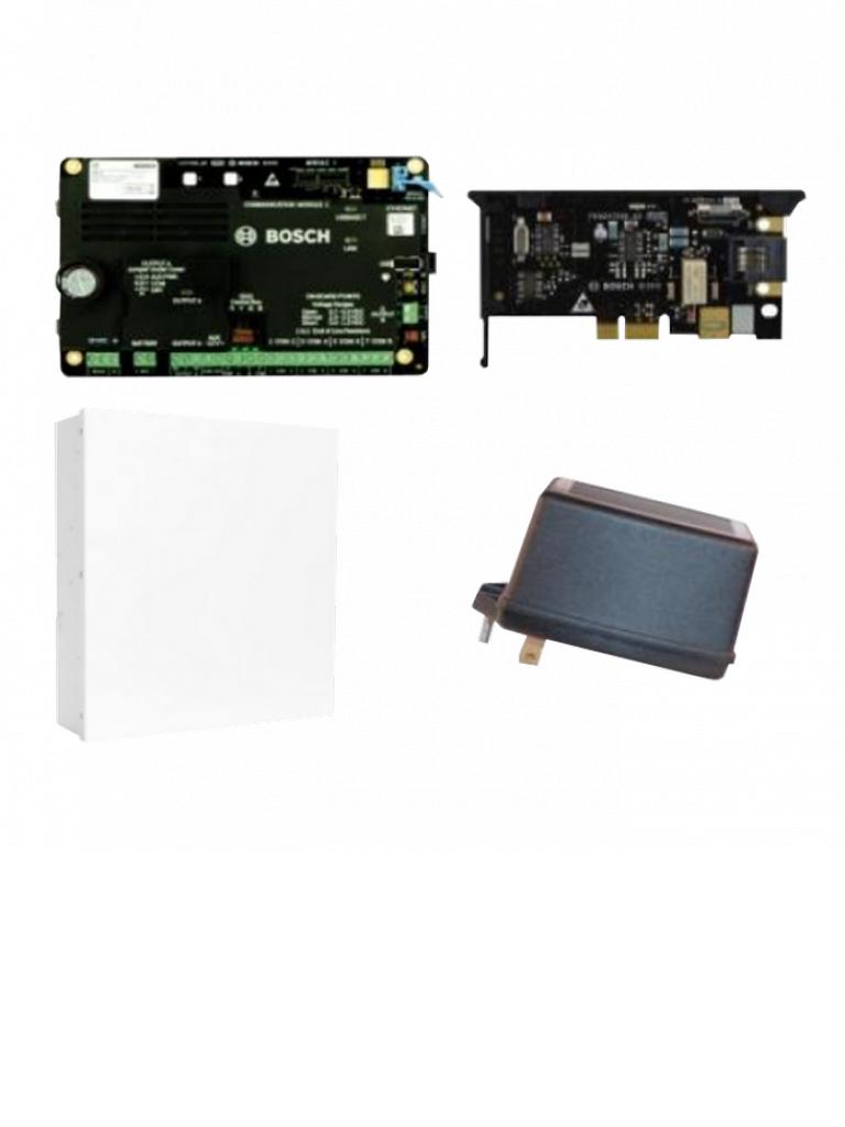 BOSCH I_B5512DP - Kit de panel B5512 / Caja metalica / Transformador de 18  VAC / PLUG In para telefono B430