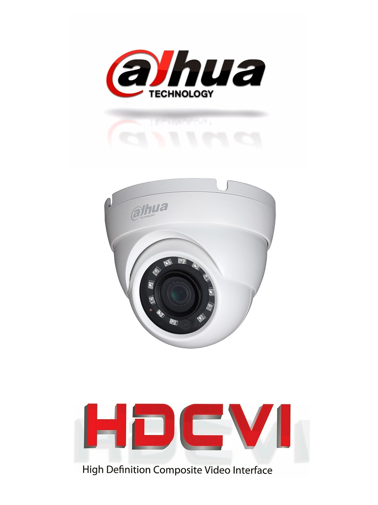 DAHUA HDW1200M28 - Camara domo  HDCVI  1080p / TVI / A HD / CVBS / Lente fijo 2.8  mm / Ir 30M / Smart ir / IP67 / BLC / HLC / DWDR / AGC / Metalica