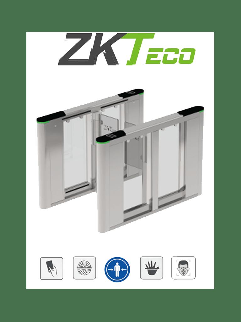 ZKTECO SBTL8000-  Barrera Peatonal Tipo Swing Bidireccional / Aleta de Acrílico Personalizable / Acero SUS304 / 30 Personas x Min. / Ancho de Carril 66 cm / Infrarrojos de Seguridad / 110V / Interior / No cuenta con Lectores y Panel