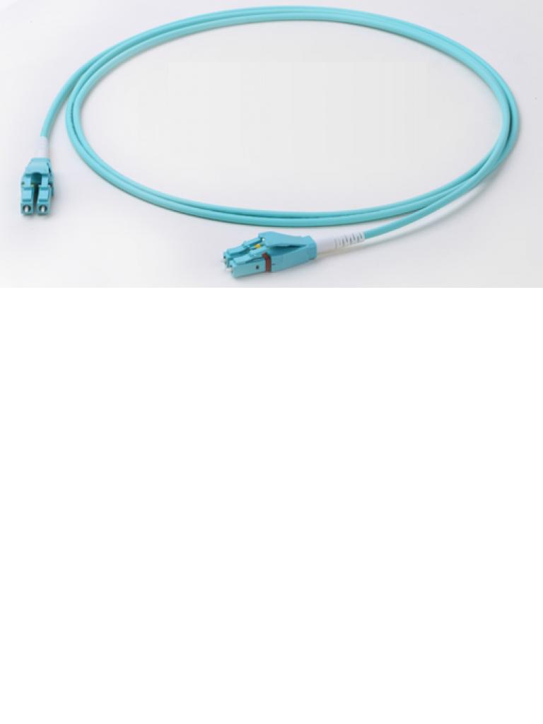 SAXXON JMMOM3LCLCD1M - JU MPER De fibra optica multimodo / LC-LC Duplex / OM3 50 / 125 2 mm / Color AQUA / 1 Metro