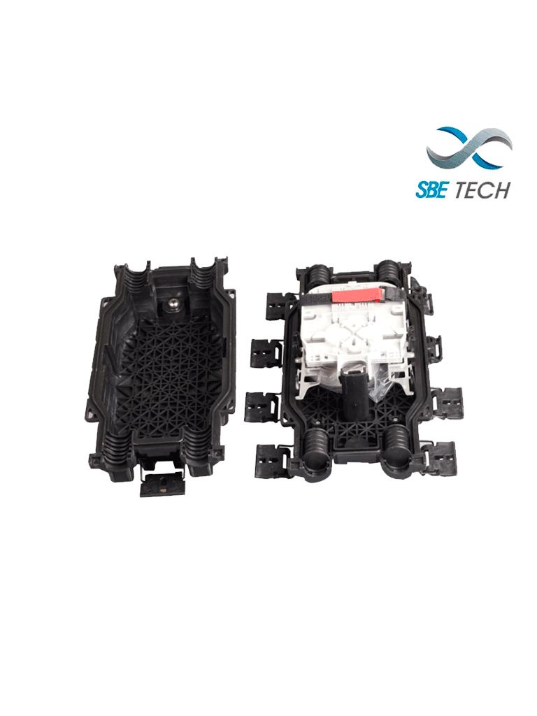 SBETECH SBE-CEH48 - Cierre de empalme horizontal para 48 fibras, 2 entradas/2 salidas