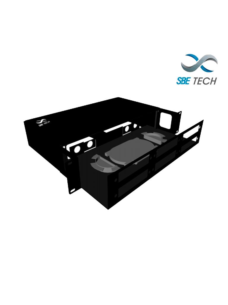 SBETECH DFO36D- Distribuidor de Fibra Óptica Deslizable para 6 placas, hasta 36 fibras, 2 UR