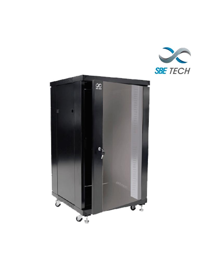 SBETECH  GNL20URP600 Gabinete de piso de 20UR de alto con puerta de cristal.