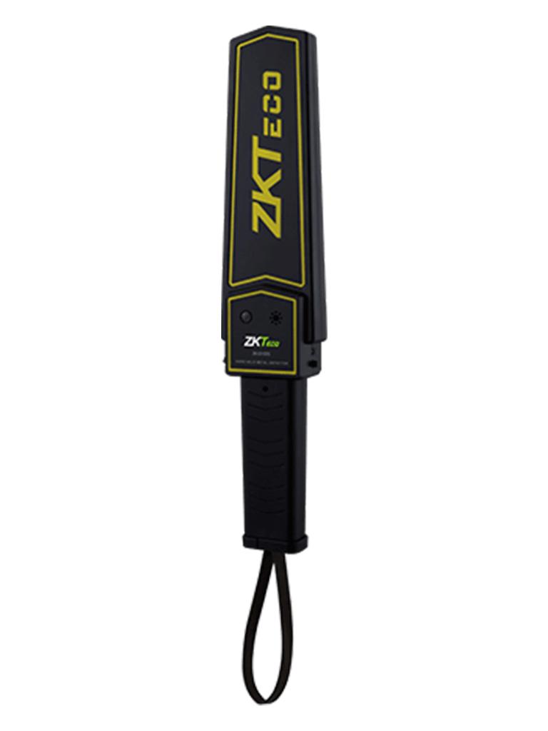 ZKTECO D100S - Detector de Metales Portátil / Batería de Litio Recargable 9 VCD / Alarma configurable Audio, Luz, Vibración / Intensidad de 75 dB