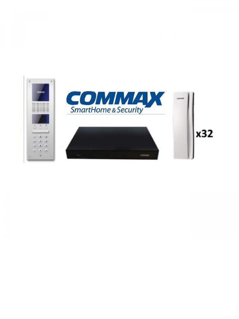 COMMAX AUDIOGATEPAK32 - Paquete para 32 apartamentos / Audio bidireccional / Apertura de puerta