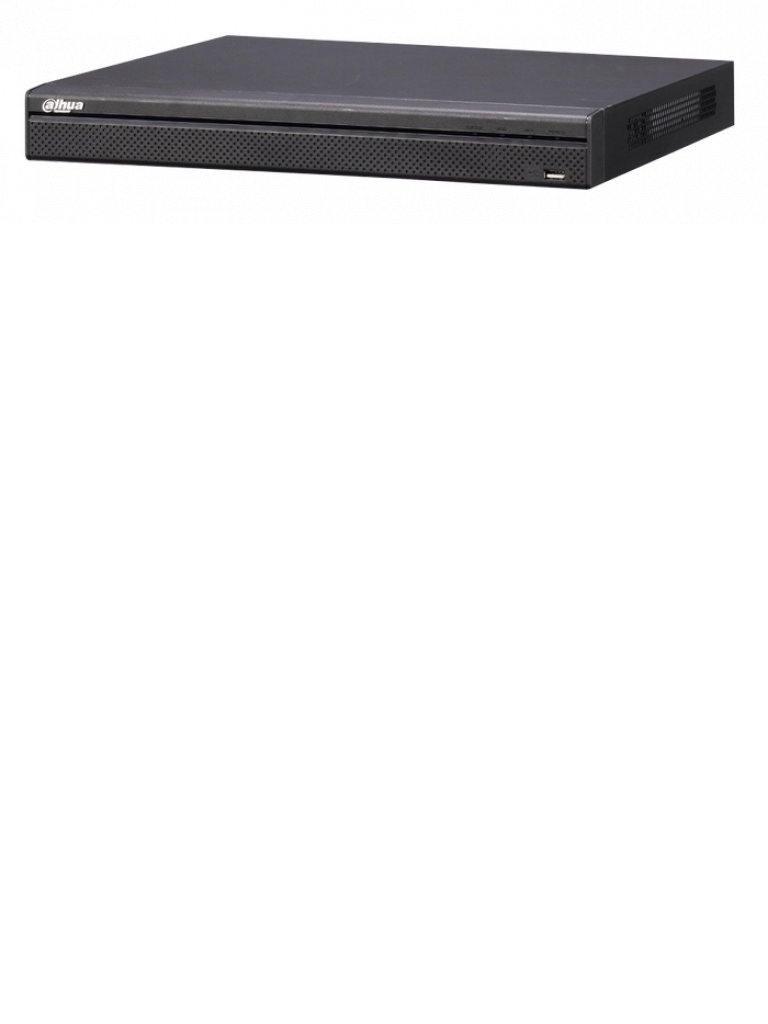 DAHUA NVR4208P4K - NVR 8 CANALES VIDEO IP 4K / RENDIMIENTO GRABACION 192MBPS / HDMI / VGA / 8 PUERTOS POE / SOPORTA 2 HDD / ONVIF / P2P