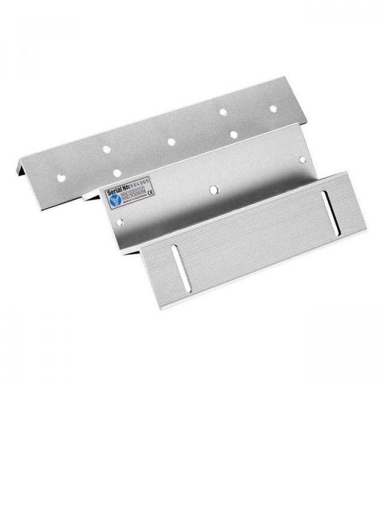 YLI MBK180ZL - Soporte de fijacion de electroiman para puerta con apertura interior de 180  Kg  tipo ZL/ Compatible con YM180