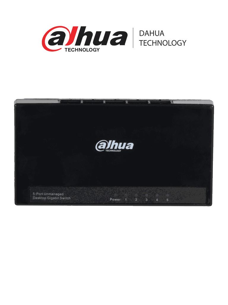 DAHUA DH-PFS3005-5GT-L - Switch para Escritorio 5 Puertos/ Gigabit Ethernet/ 10/100/1000/ Diseño Compacto/ Capa 2/ Switching 10 Gbps/ Velocidad de Reenvio de Paquetes 7.44 Mbps/ #LoNuevo