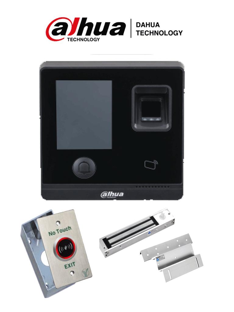 DAHUA ASI1212ADPAK- Control de Acceso TCP/IP STANDALONE/ Uso interior / 3,000 Huellas/ 150,000 Eventos/ 30,000 usuarios/ Tarjetas ID, incluye chapa magnética y botón de salida #ExpoTVC