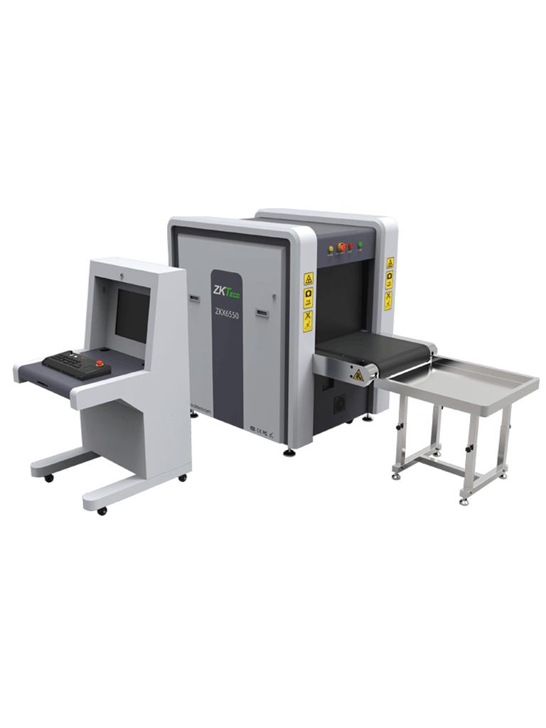 ZKTECO ZKX6550 - Maquina de  Rayos X para equipaje / Energía Doble / Escaneo bidireccional / Túnel de  65 x 50 cm / Con Estación de Monitoreo