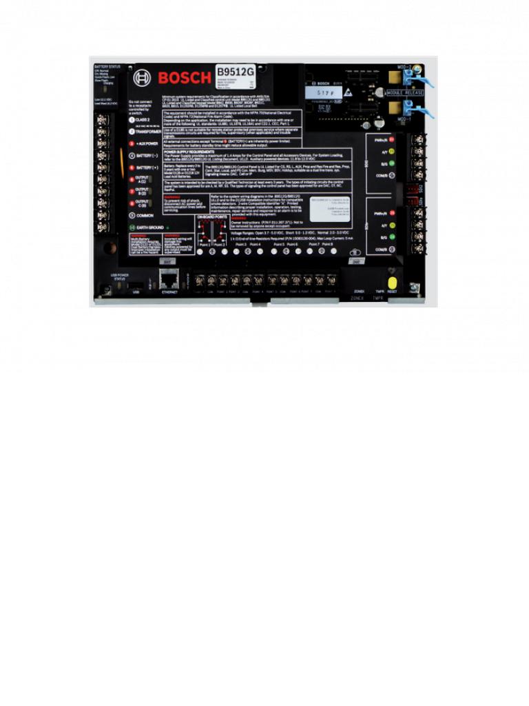 BOSCH I_B8512G - Panel de alarma hasta 99 puntos / Hasta 8 areas / Hasta 8 lectoras de acceso / Hasta 8 camaras IP