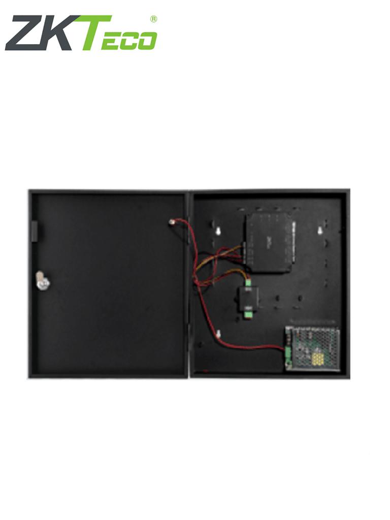 ZKTECO C2260B - Panel de Control de Acceso para 2 puertas con Gabinete Metálico / Incrementa el Número de Puertas a Controlar con el Expansor DM10 / No Tiene Comunicación Wiegand / Licencia Bio Access MTD Gratis