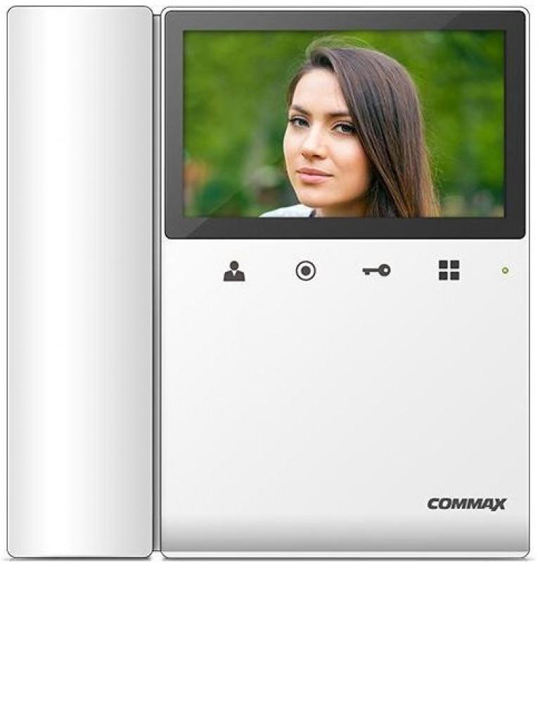 COMMAX CDV43K2 - Monitor color 4.3 pulgadas / Soporta 2 frentes calle / Auricular extra DP4VHP / Compatible con MODUM