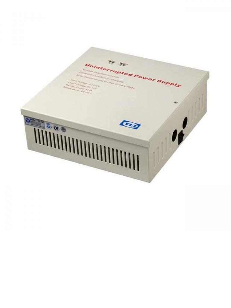 YLI YP902123 - Gabinete con fuente de energia / Ideal para controles de acceso soporta bateria de respaldo 73034 / Con relevador NO /  NC /  COM