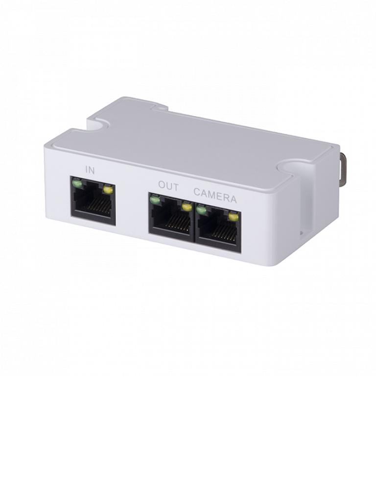 DAHUA PFT1300 - Extensor  PoE &  PoE plus pasivo / 2 Puertos / Conexión en cascada hasta 300 Mts / 2 Puertos Fast Ethernet