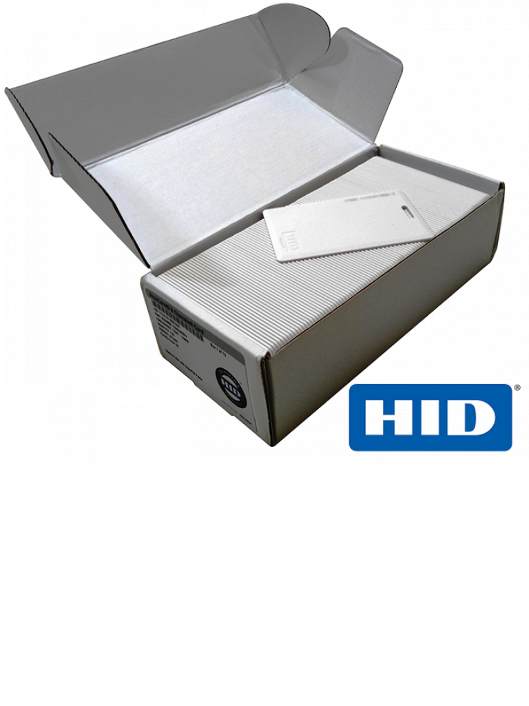 HID PROXCARDII - Paquete 100 tarjetas de proximidad / PROXCARD II / 125 Khz / Tipo clamshell / Ranura vertical
