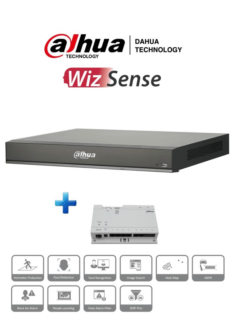 DAHUA DHI-NVR4216-16P-4KS2/L - NVR de 16 Canales 4k/ serie lite/128Mbps/ H.265+/ 16 puertos poe/ 2 bahías de discos duros/ switch de paso de 6 puertos incluído