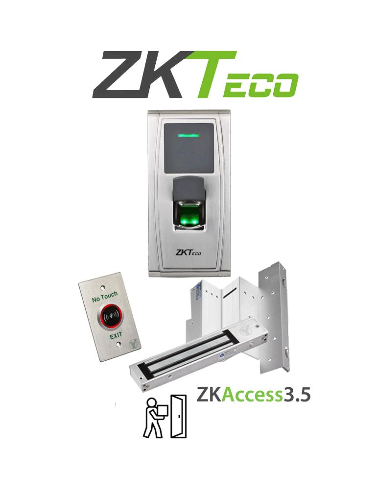 ZKTECO MA300LM1805PACK - Paquete de control de acceso con validación por huella y Tarjetas ID de 125 Khz incluye cerradura magnética de 200 Kg y soporte en ZL para su instalación en puertas de madera o metal/ #TodoIncluido