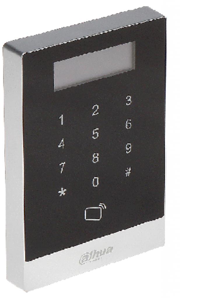 DAHUA ASI1201AD - Control de acceso con pantalla / Teclado touch / Desbloqueo por PASSWORD o tarjeta  ID / 30000 Usuarios / TCP IP / Una puerta
