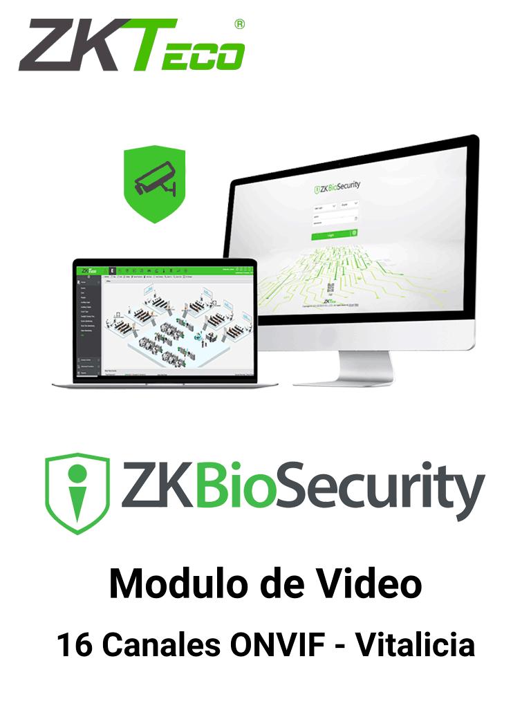 ZKTECO ZKBSVIDP16 - Modulo Vitalicio de Vídeo para Biosecurity / Soporta hasta 16 Canales / ONVIF