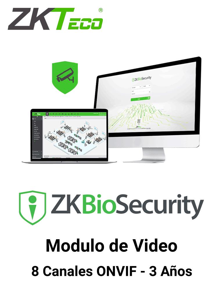ZKTECO ZKBSVIDP83Y - Modulo de Vídeo para Biosecurity / Soporta hasta 8 canales / ONVIF / Vigencia 3 Años
