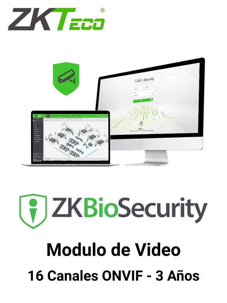 ZKTECO ZKBSVIDP163Y - Modulo de Vídeo para Biosecurity / Soporta hasta 16 Canales / ONVIF / Vigencia 3 Años