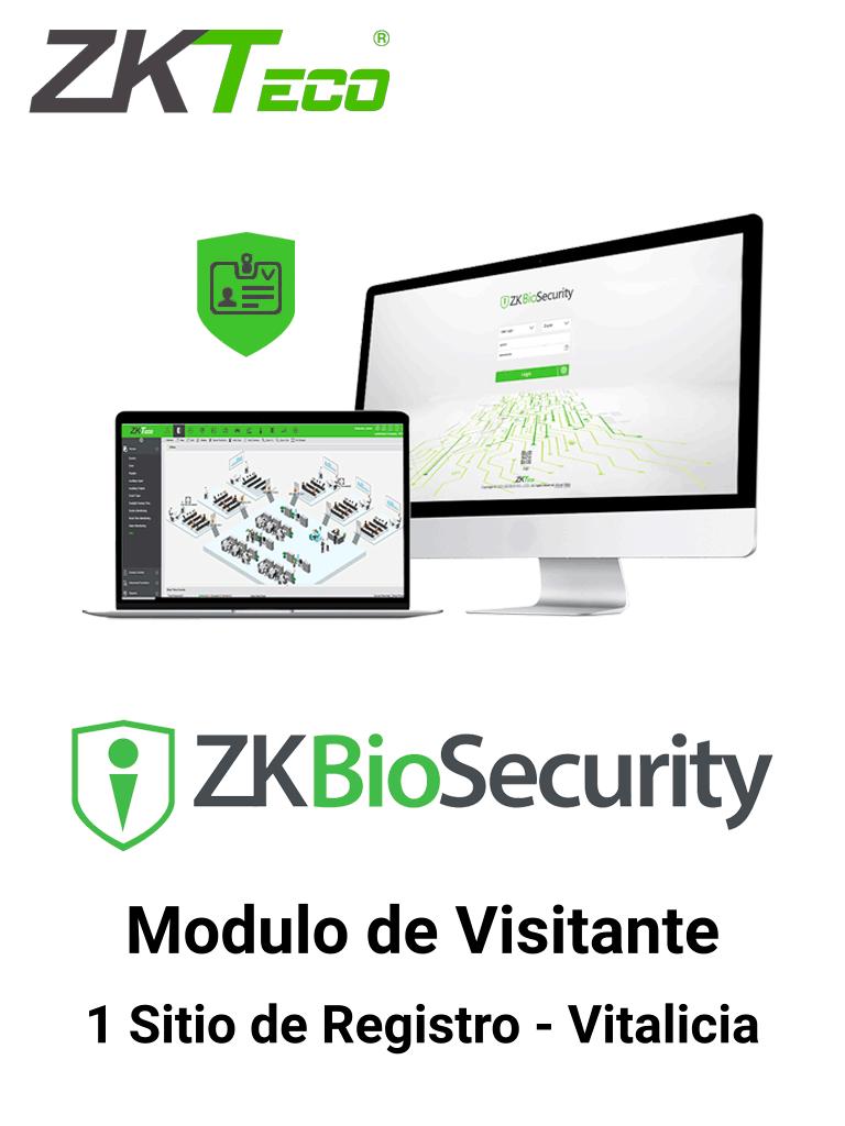 ZKTECO ZKBSVISP1 - Licencia para gestión de Visitas en Biosecurity / 5000 Visitas por Mes / 1 Sitio de Registro /  Vitalicia