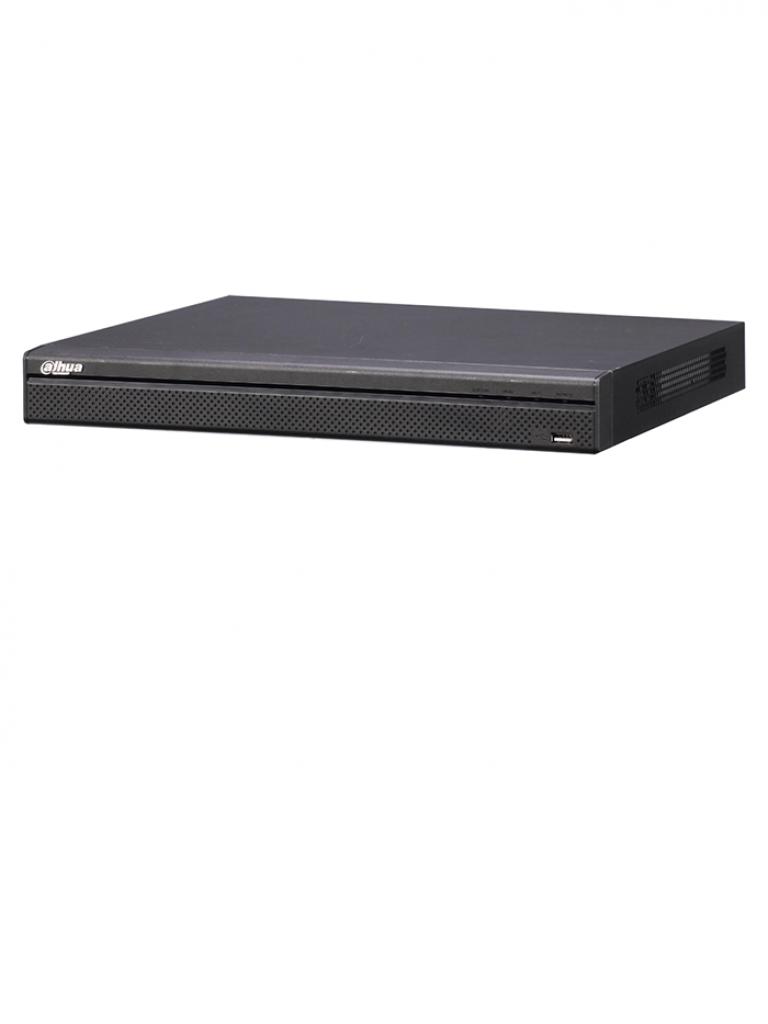 DAHUA NVR4216P4KS2 - NVR 16 Canales IP 4K / H265 / H264 / Rendimiento grabacion 200  Mbps hasta 8  MP / 16 Puertos  PoE /  HDMI / VGA / 2 SATA Hasta 12 TB / P2P