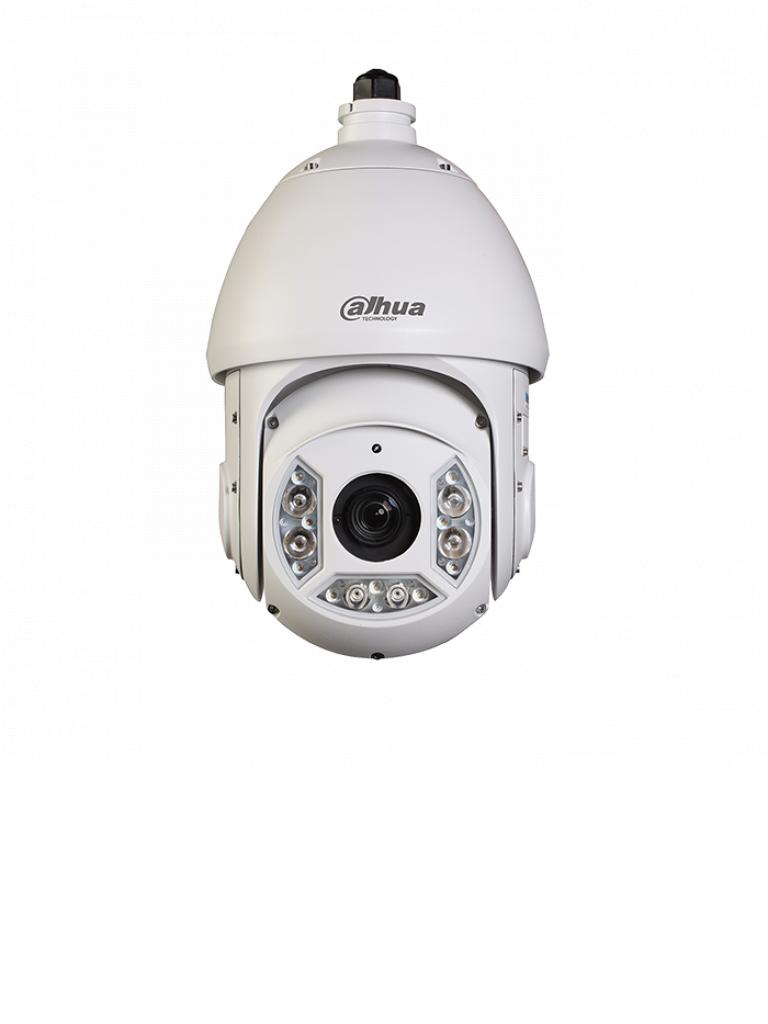 DAHUA SD6C430UHNI - Camara IP PTZ 4 MP / Zoom optico 30X / AUTOTRACKING / H265+ / Ir 100  Mts / IP66 / EIS / ANTI Niebla / WDR Real 120 dB / Ranura SD