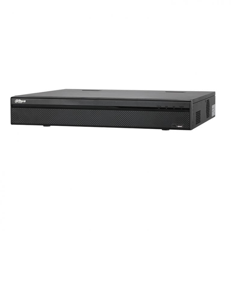 DAHUA NVR44324KS2 - NVR 32 Canales IP 4K / H265 / H264 / Rendimiento 200 Mbps /  HDMI / VGA / Soporta 4  HDD / IVS