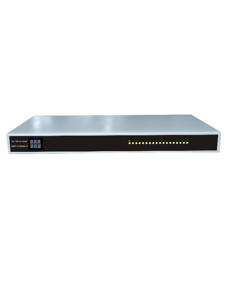 SAXXON PSU1220D18US - Fuente de poder regulada 12V CD / RACKEABLE / 20 Amperes / Distribuidor para 18 camaras / Certificacion UL